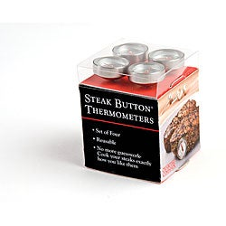 Reusable Steak Button 4-piece Set