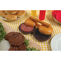 Double Plastic Hamburger Press
