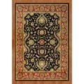 Hand-tufted Black New Zealand Wool Rug (8' x 10')