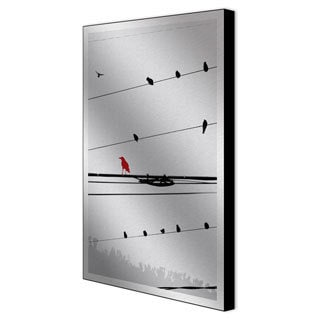 Sara Abott 'Birds on a Wire I' Metal Artwork