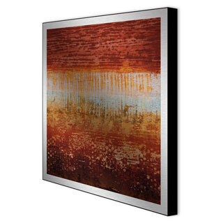 Benjamin Arnot 'Red Strata I' Framed Metal Art
