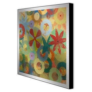 Packard 'Sweet Bloom II' Framed Metal Wall Art