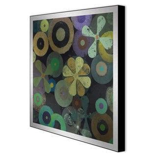 Packard 'Night Blossoms II' Framed Metal Wall Art
