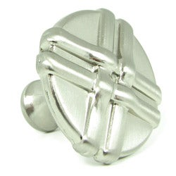 Stone Mill Manchester Satin Nickel Weave Cabinet Knob (Pack of 5)