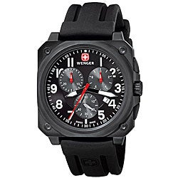 Wenger Men's Swiss Military AeroGraph Cockpit Watch in Black
