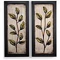 Metal Leaf 14.5 x 32 Wall Art (Set of 2)
