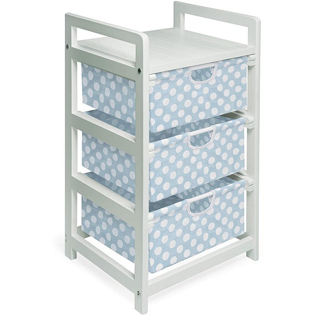 Badger Basket Three-drawer White with Blue Polka Dots Hamper/ Storage Unit at Sears.com
