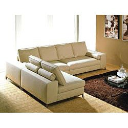 Modular Contemporary 3-piece Sectional Cream Sofa