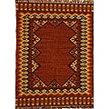 Hand-woven Wool and Jute Rug (5' x 8')