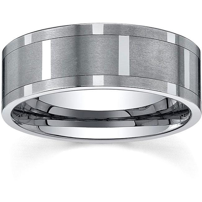 Men's Tungsten Comfort-fit Spinner Band (9 mm)