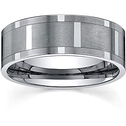 Men's Tungsten Comfort-fit Spinner Band (9 mm)