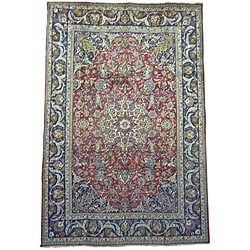 Persian Isfahan Hand-knotted Wool Rug (8'2 x 12')