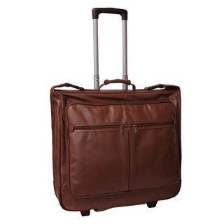 Amerileather Cowhide Leather Brown 21.5 Inch Rolling Garment Bag