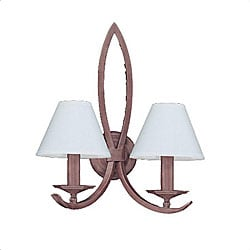 Pasadena 2-light Tile Bronze Wall Sconce