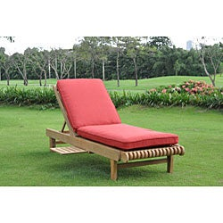 Kokomo Teak Sunlounger with Pull-out Tray