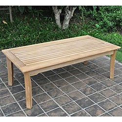 Sale Kokomo Teak Coffee Table Outdoor Indoor Ivory