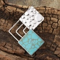 Sterling Silver Turquoise Square Connection Pendant (Mexico)