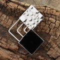 Sterling Silver Onyx Square Connection Pendant (Mexico)
