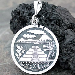 Sterling Silver Passage of the Pyramids Pendant (Mexico)