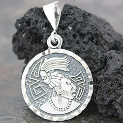 Sterling Silver King of Palenque Pendant (Mexico)
