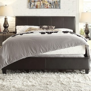 TRIBECCA HOME Castillian Queen-size Dark Brown Upholstered Bed