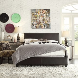 TRIBECCA HOME Castillian Full-Sized Dark Brown Upholstered Bed