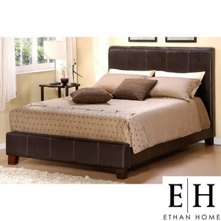 ETHAN HOME Castillian Full-Sized Dark Brown Upholstered Bed