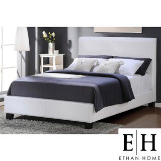 ETHAN HOME Tuscany Villa Queen-Sized White Upholstered Bed