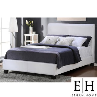 ETHAN HOME Tuscany Villa White Upholstered King-size Bed
