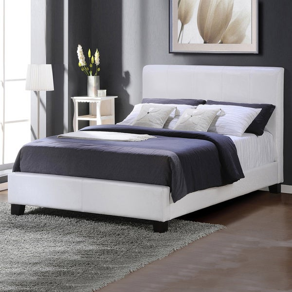 TRIBECCA HOME Tuscany Villa White Upholstered King-sized Bed