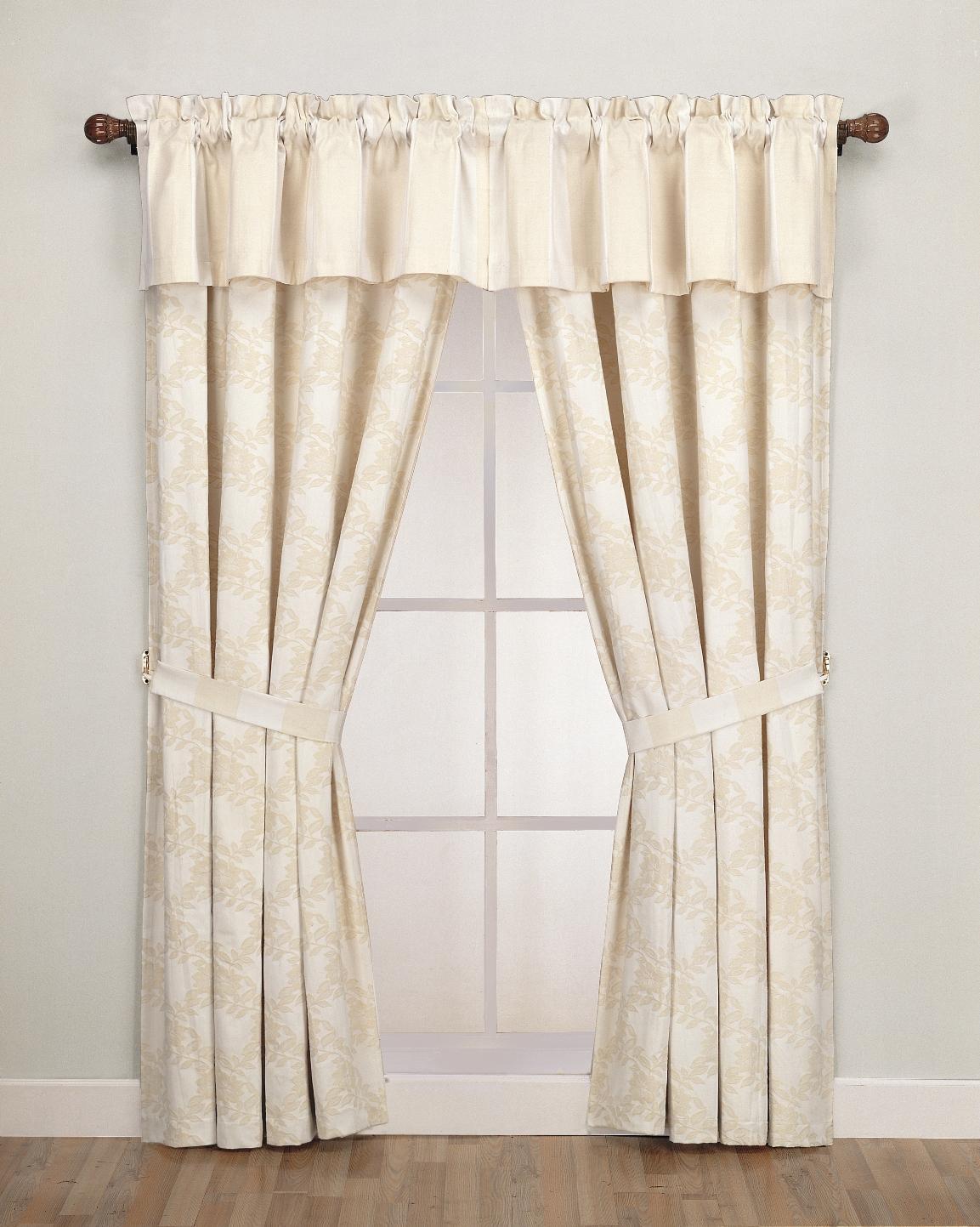 Petal Vine 84-inch Jacquard Window Treatment Set