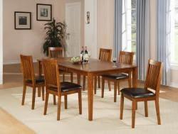 Beauville 7-piece Oak Finish Dining Table Set