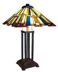 Mission Design Tiffany-style Table Lamp