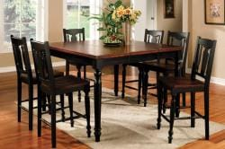 Furniture of America Tuscany Self-storing Butterfly Leaf 7-piece Dinette Set