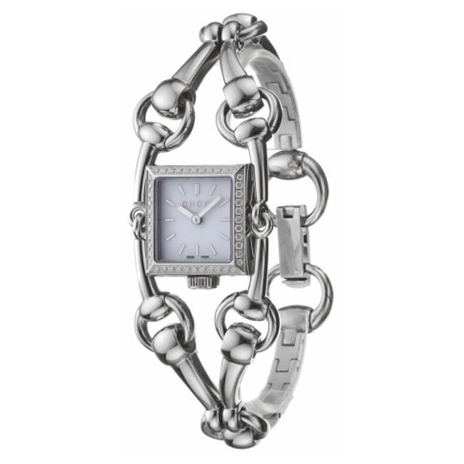 Gucci '116 Signoria' Stainless Steel Diamond Women's Quartz Watch