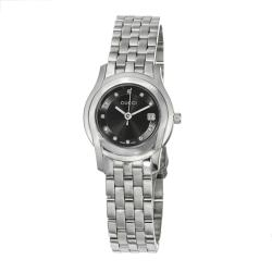 Gucci Women's YA055504 'G-Class' Black Dial Diamond-Accented Stainless Steel Watch
