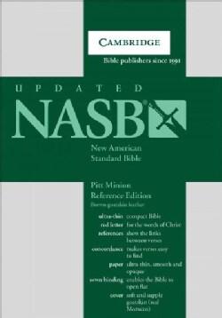 Holy Bible: New American Standard Bible, Brown, Goatskin Leather, Pitt Minion Reference Edition (Paperback)