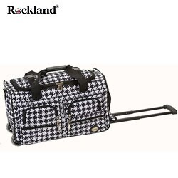 Rockland Kensington 22-inch Carry On Rolling Upright Duffel Bag