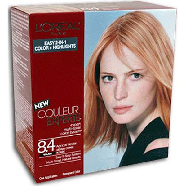 L'Oreal Couleur Experte #8.4 Apricot Nectar Hair Color (Pack of 3)