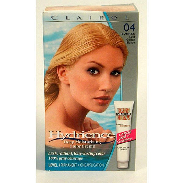 Clairol Hydrience 04 Sunrise Light Golden Blonde Hair Color (Pack of 4)