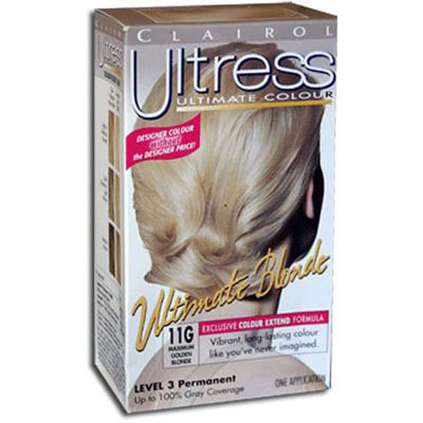 Clairol Ultress #11G Maximum Golden Blonde Hair Color (Pack of 4)