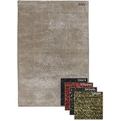 Hand-woven Mandara Wool Blend Rug (7'9 Round)