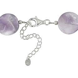 Miadora Sterling Silver Purple Agate Necklace