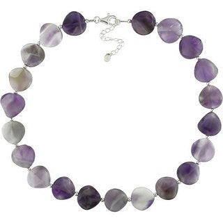 M by Miadora Sterling Silver Purple Agate Necklace