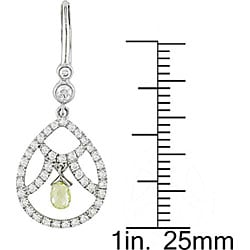 Miadora 18k White Gold 1 1/5ct TDW Diamond Earrings (G-H, I1)