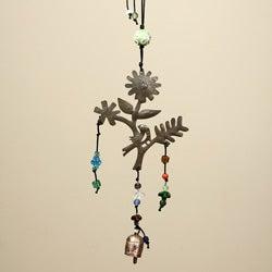 Iron Springtime Hanging Bird Bell (India)