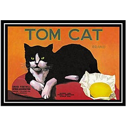 'Tom Cat Brand Lemons' Framed Art Print