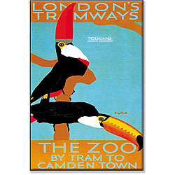 Castle 'London Tramways to the Zoo' Gallery-wrapped Canvas Art