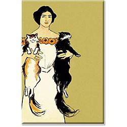 Edward Penfield 'Springtime Felines' Canvas Art
