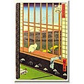 'Window Cat on Japan' Gallery-wrapped Canvas Art